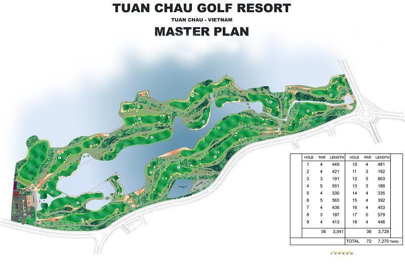 Bản đồ dự án sân golf Tuần Châu