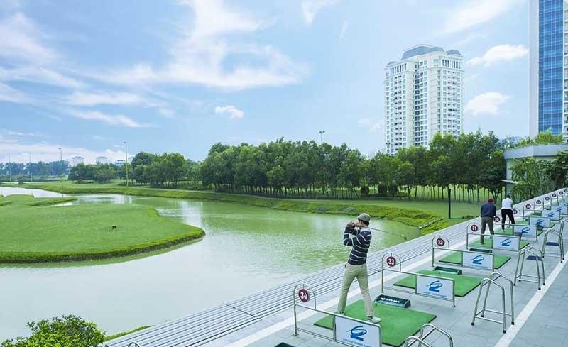 Khu luyên tập chuyên nghiệp dành cho các golfer.