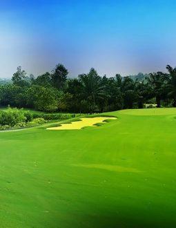 Hình ảnh một góc sân golf Yên Bình Thái Nguyên