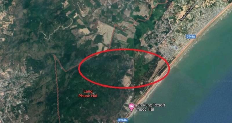 Bản đồ dự án sân của công ty Hương Sen