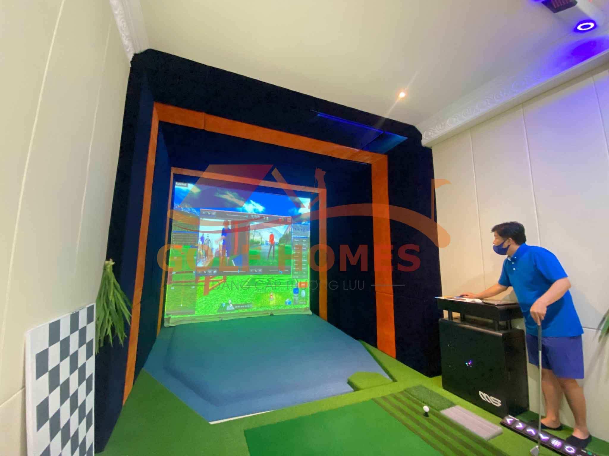 Phòng golf 3D được trang bị sẵn để test gậy tại showroom