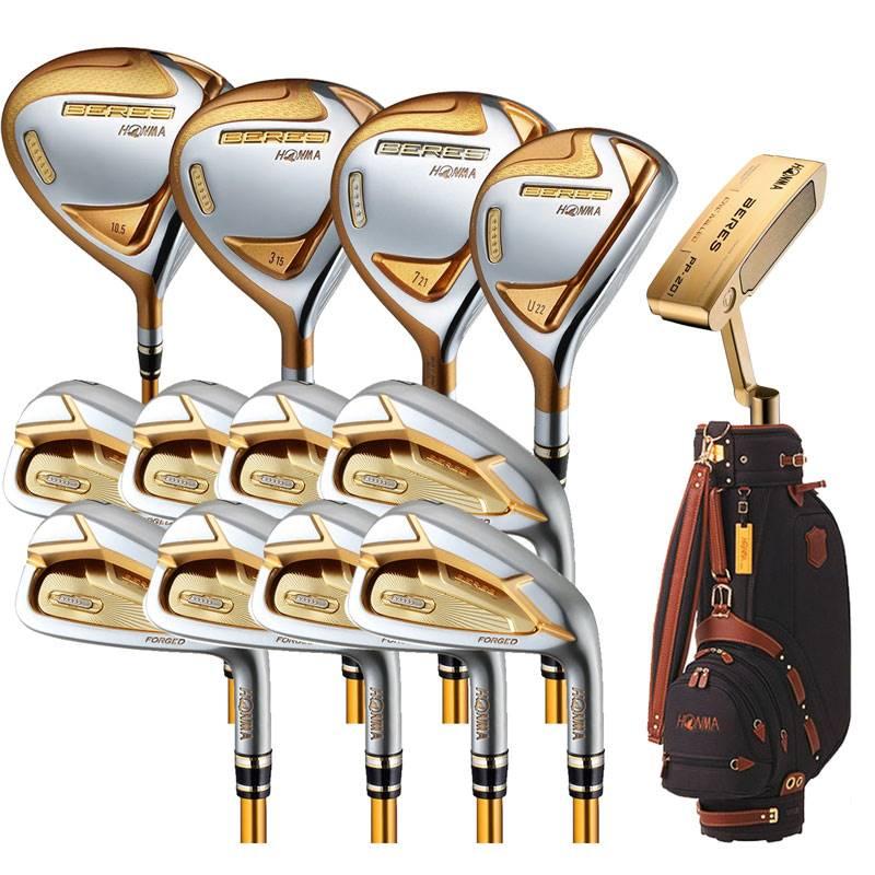 Bộ gậy golf Honma Beres S06 sở hữu đầu gậy được mạ vàng