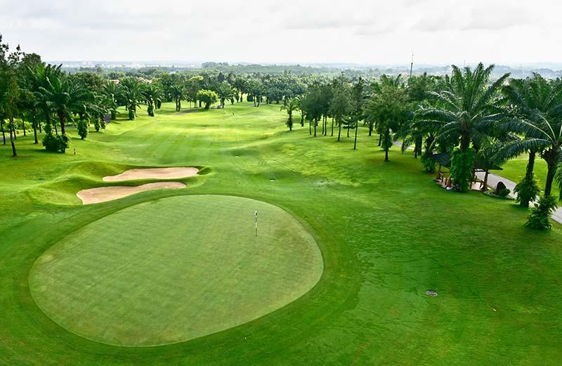 Sân golf Biên Hòa với diện tích rộng lớn