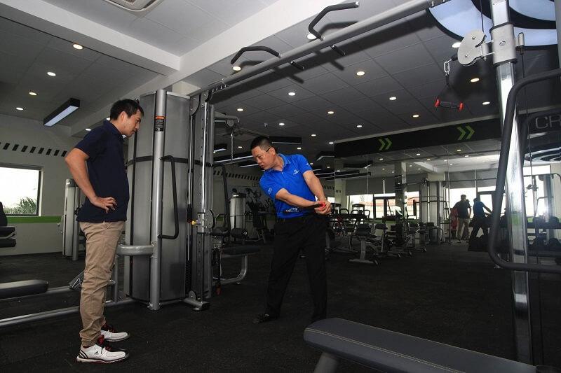 Sân golf còn trang bị phòng tập gym hiện đại