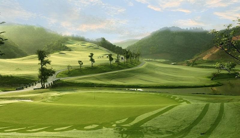 hình ảnh minh hoạ sân golf sau khi xây dựng xong