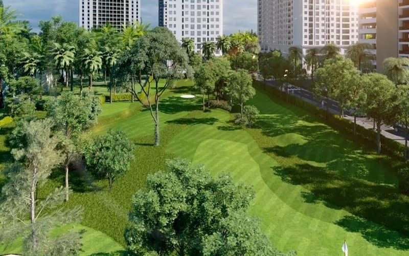 cảnh quan sân golf