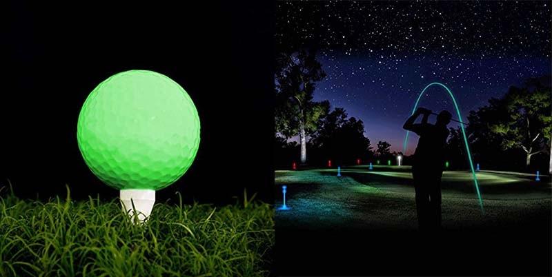 Bóng golf phát sáng giúp những trận golf đêm trở nên lý thú hơn bao giờ hết