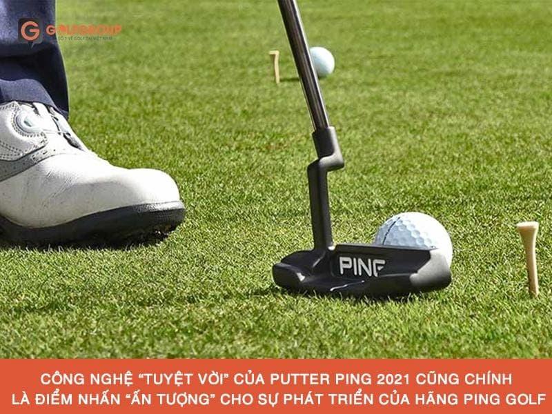 Putter Ping sử dụng Công nghệ dual-durometer - là công nghệ với thiết kế 2 lớp Pebax ở mặt gậy