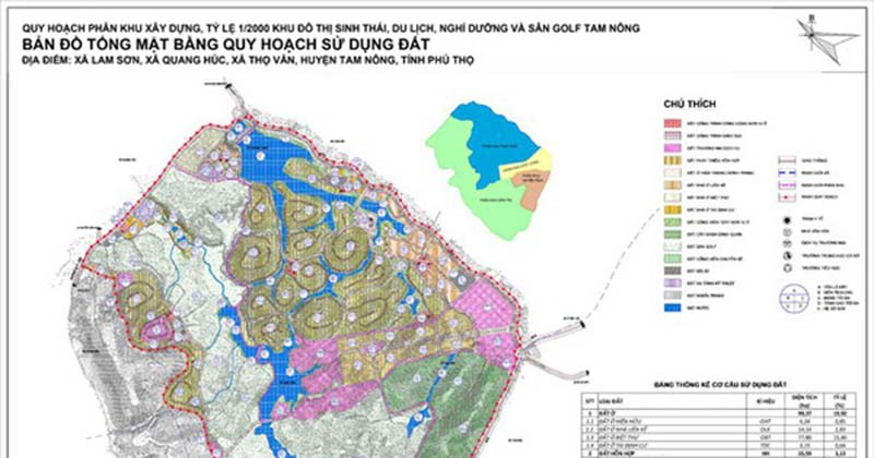 Quy hoạch sân golf Tam Nôn Phú Thọ