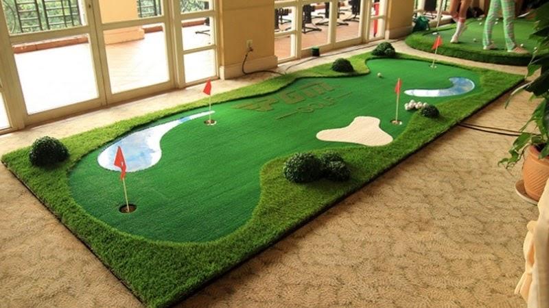 Thảm tập chia làm 2 loại thảm chính là thảm để putting và thảm swing golf