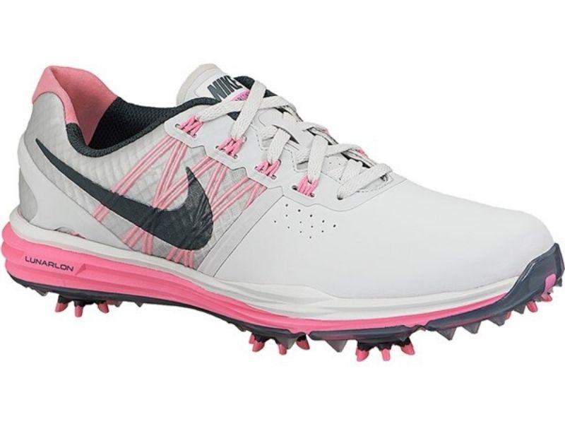 Giày golf nữ Nike Lunar Control màu trắng hồng năng động
