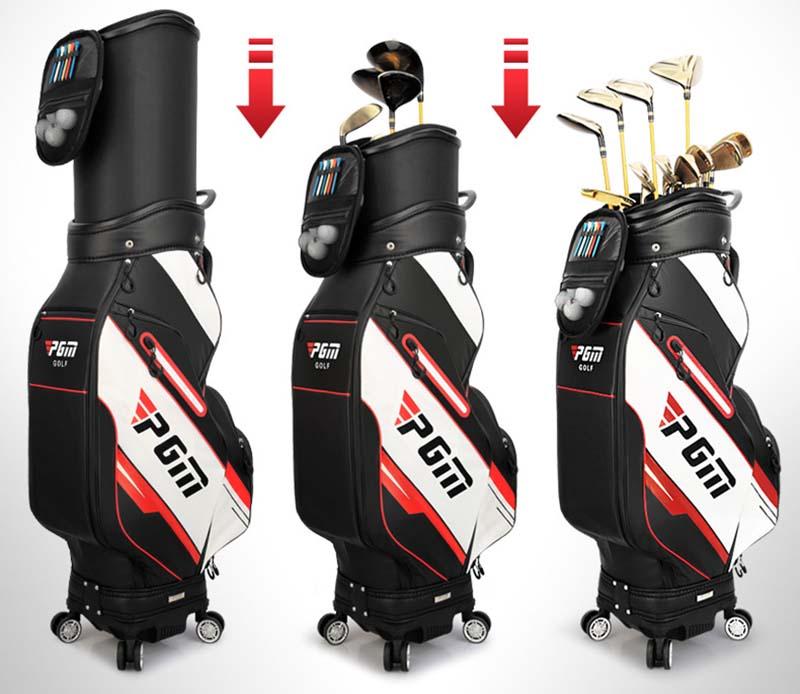 Túi đựng gậy golf có bánh xe rất thuận tiện