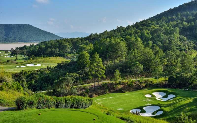 Cảnh quan của sân golf Đà Lạt Palace sau khi nâng cấp