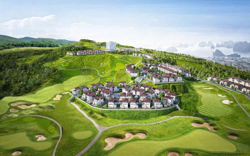 Góc nhìn toàn cảnh của sân golf FLC Quảng Ninh