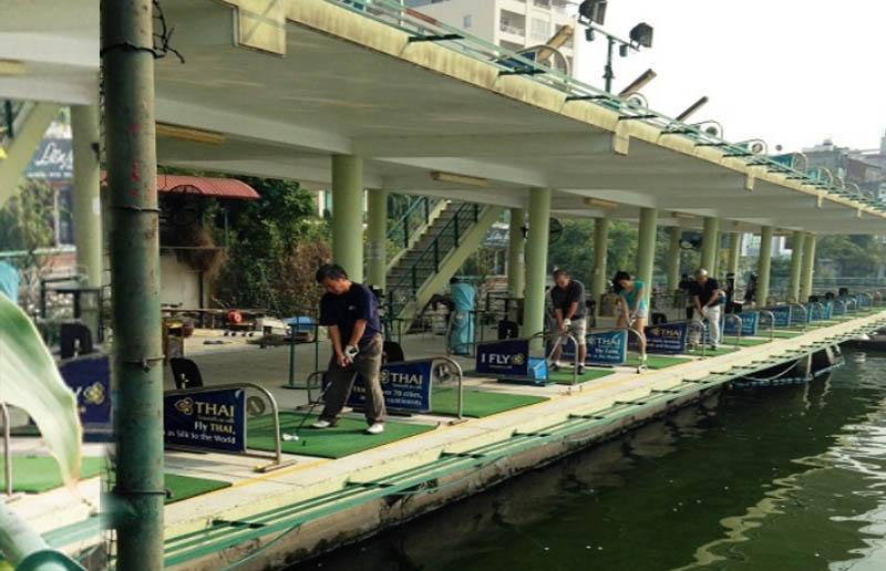 Sân tập golf Hà Nội Club dạng cầu cảng